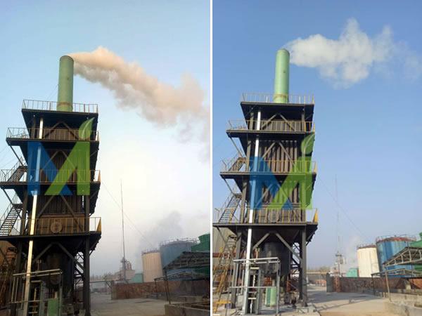 山东制砖烟气湿式静电除尘器开始运行