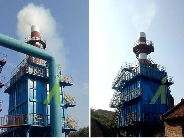 山西砖瓦隧道窑烟气量100000m3/h,湿电除尘器设计气速为1m/s